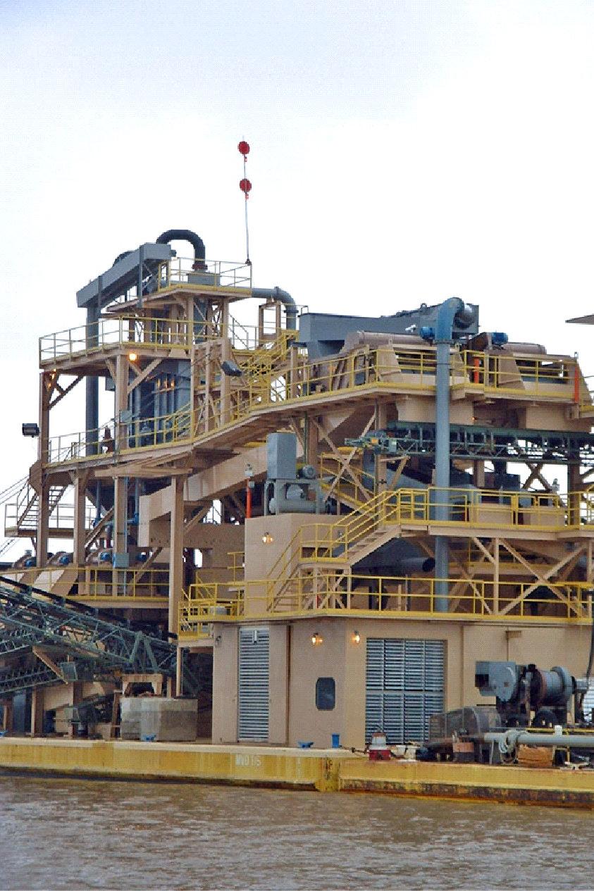 Dredge Plant Density Separators Lignite Removal